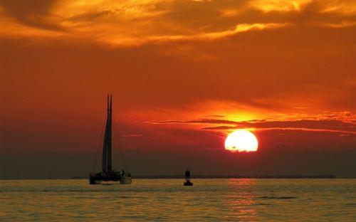 tramonto mare
